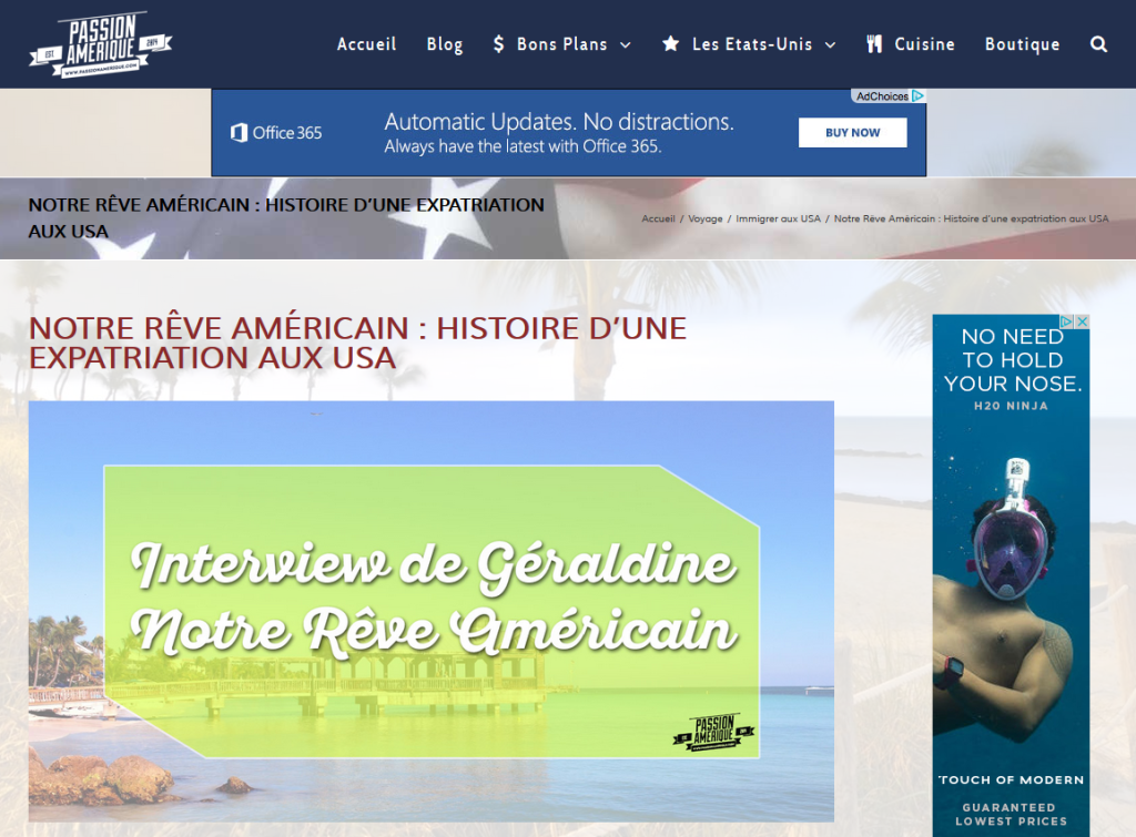 Passion Amérique - Cliquez sur le lien pour accéder à l'interview