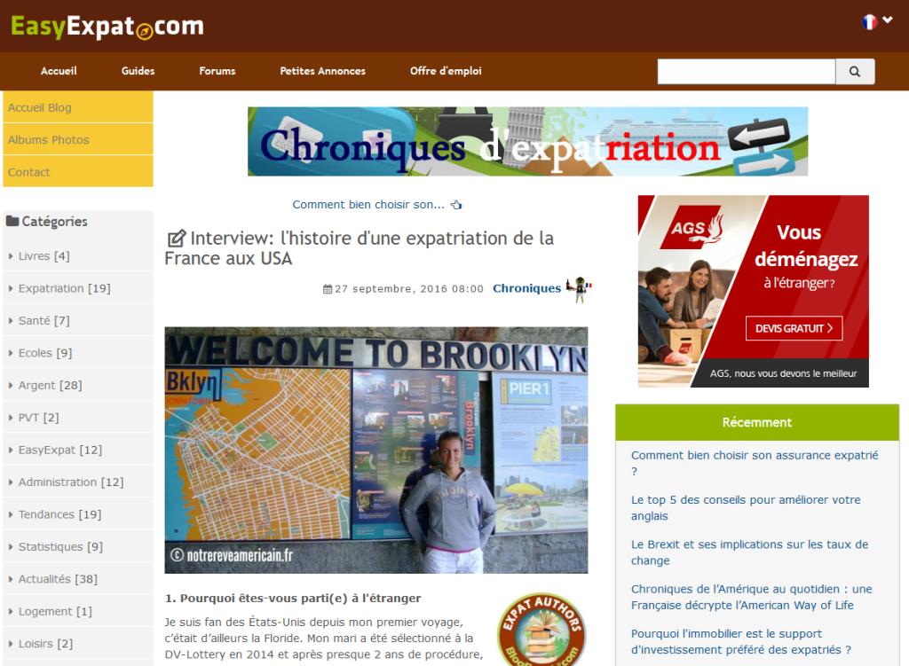 Easy Expat - Cliquer sur l'image pour accéder à l'interview