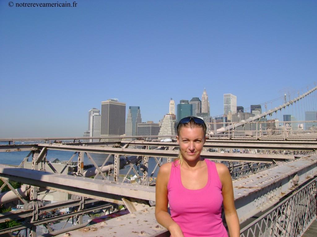 Ge on Brooklyn bridge