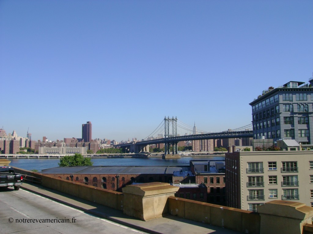 Manhattan bridge from Brooklyn bridge
