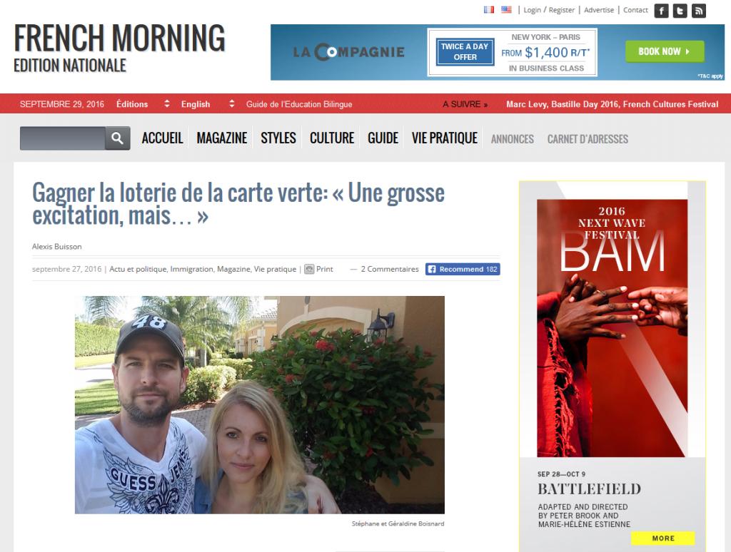 French Morning - Cliquez sur l'image pour accéder à l'interview