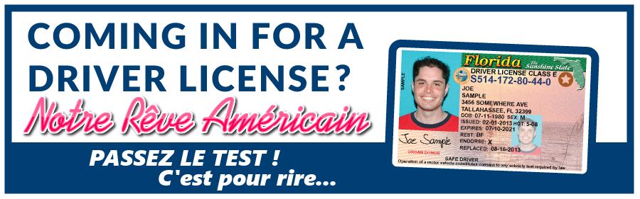 Un test ludique pour répondre à quelques questions du permis américain.