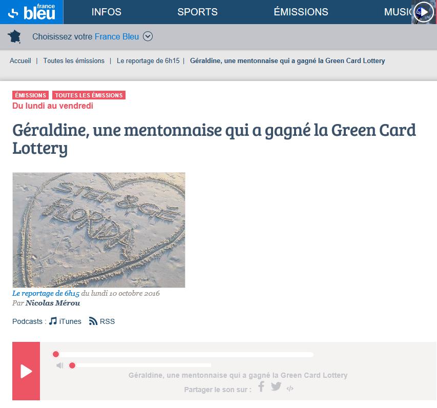 Radio France Bleu : Cliquez sur l'image pour écouter l'interview